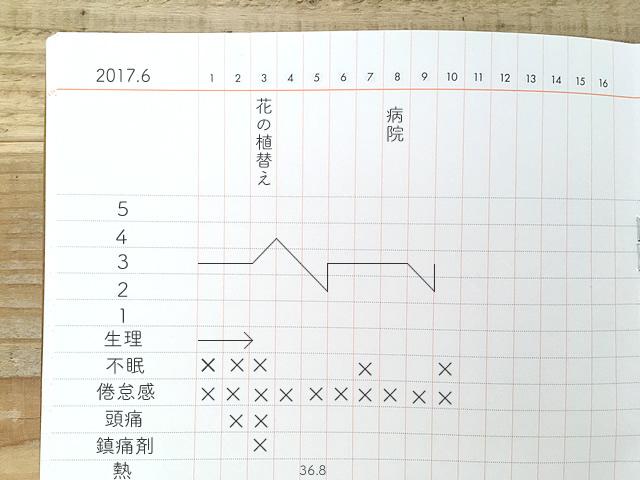 体調管理の記録ノート